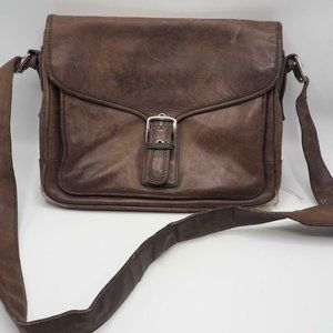 Coach Saddle Brown Leather Crossbody Messenger